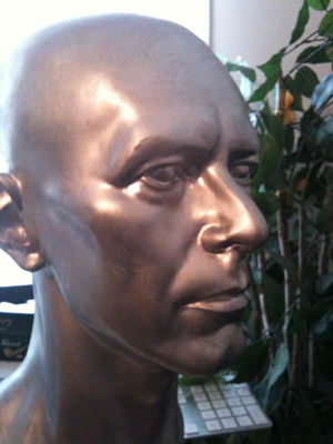 sculpture of David Bowie's head
