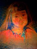 昔祖母が描いた伯母の子供の頃