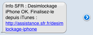 desimlockage SMS